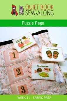 Quiet Book Sew-Along: Puzzle Page Fabric Prep {week 11}