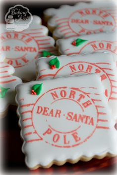 The Baking Sheet: North Pole Postmark Cookies!
