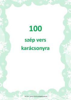 100 szép karácsonyi vers