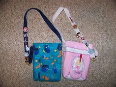 over the shoulder bag: doubles as pin lanyard and autograph book holder. Disboutique: Autograph Bag by buffy0214
