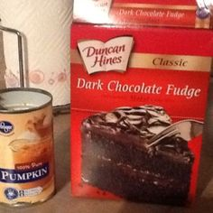 food Got this from Hungry Girl...180 calories per muffin. No eggs,no oil.. Just the cake mix and pumpkin!