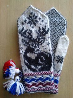Double Knitting Patterns, Knitted Mittens Pattern, Knit Mittens, Mitten Gloves, Fair Isle Knitting, Hand Warmers, Knitting Projects, Needlework, Knit Crochet
