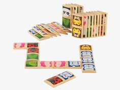 ZOO MULTI-COLOUR Wood Kids' wooden domino set - Toys- HabitatUK