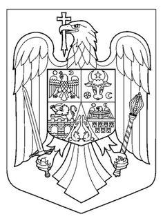 Imagini pentru stema romaniei de colorat