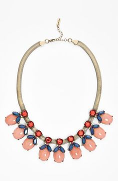 BaubleBar 'Rosebud' Mixed Stone Frontal Necklace (Nordstrom Exclusive) available at #Nordstrom