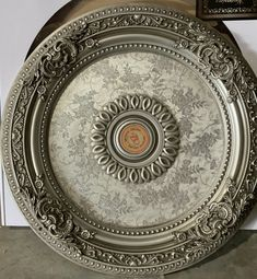 Antique Silver Round Ceiling Medallion - World of Decor Hollow Wall Anchors, Open Ceiling, Round Chandelier, Thing 1, Victorian Decor, Construction Design, Ceiling Medallions, Baroque Fashion, Ceiling Decor