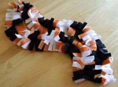 Easy Fringe Fleece Scarf - I should make these for our cheerleaders next year