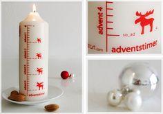 "Kerze ""Adventstimer"" // candle by streichzart via DaWanda.com"