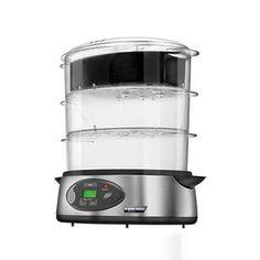 Black & Decker® Digital Food Steamer, Large, family sized capacity food steamer with (1) 3.2L Basket, (1) 3.4L Basket, (1) 3.6L Basket and (1) 5 Cup Rice Bowl