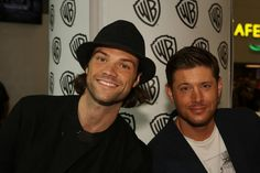 """Jared Padalecki Photos Photos - In this handout photo provided by Warner Bros, Jared Padalecki and Jensen Ackles of """"Supernatural"""" attend Comic-Con International 2014 on July 27, 2014  in San Diego, California. - Warner Bros. At Comic-Con International 2014"""