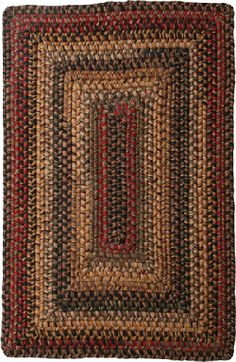 Rectangle Braided Wool Rug