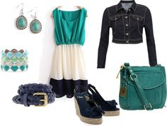 blue blue blue, created by lindsaycraig on Polyvore