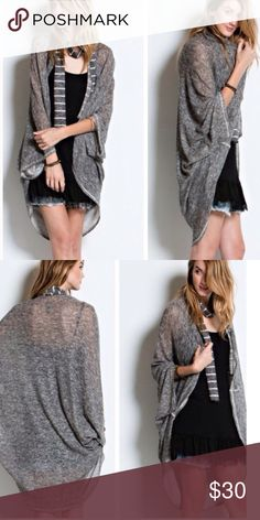 •loose heather cardigan• Nothing beats the ease of throwing on a cardigan to complete an outfit! Two tone double side knit and open front and 3/4 dolman sleeves for the ultimate in comfort. Material is 50% rayon, 48% poly and 2% spandex. ❌PRICE FRIM UNLESS BUNDLED❌ Sweaters Cardigans