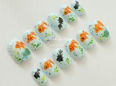 Goldfish nails by aya1gou, via Flickr
