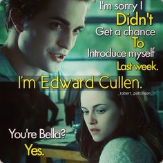 I love how Edward knew to call her Bella instead of Isabella.