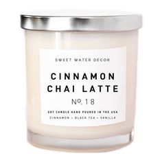 Sweet Water Decor White Tea and Cedarwood Natural Soy Wax Candle Glass Jar Spa Summer Scent Warm Sea Salt Air Modern Home Decor Accessories Relaxation Accessory Made in USA Lead Free Cotton Wick,