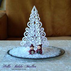 Swirly Christmas Tree #birdscards #birdssvgs