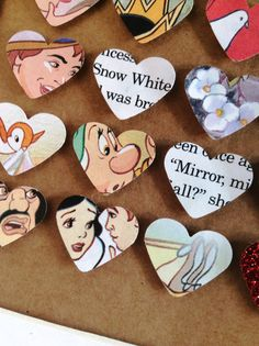 Snow White Disney decorative frame. Personalised. Made from old Disney book. Handmade