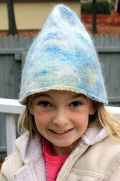 Funky Felt Winter Fairy Hat by susio on Etsy