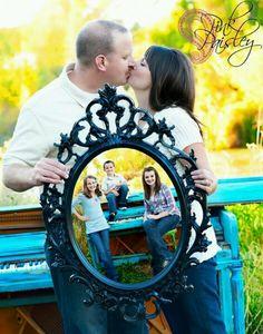 Family photo idea using mirror