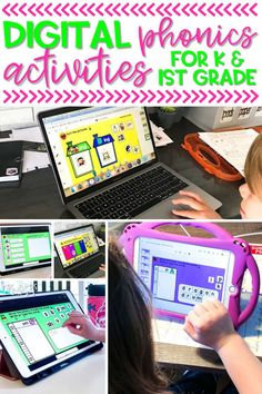 Looking for kindergarten phonics activities you can use when teaching remotely or in the classroom? These digital phonics activities for kindergarten help students practice early reading skills like beginning sounds, ending sounds and cvc words.