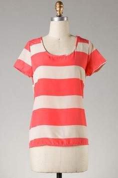 Anything Goes Top (Coral) - Tops