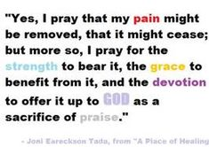 Chronic Pain Quotes -Joni Ereckson Tada, a woman who knows a thing or two about strength