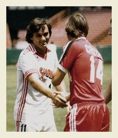 George Best, (San Jose Earthquakes, 1980–1981) and Johan Cruyff (Washington Diplomats, 1980–1981)