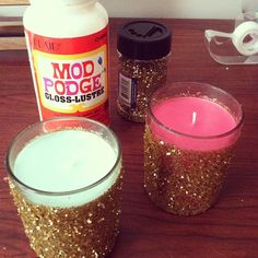 THE DIY FILES: THE GLITTER CANDLE