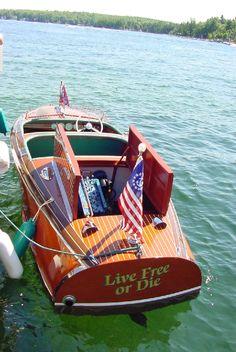 "Live Free or Die...looks like Kid Rock's boat. ""Singing Sweet Home Alabama All Summer Long"""