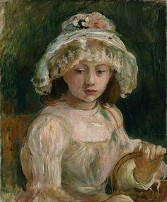 Berthe Morisot- Young Girl with Hat