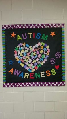 Autism Awareness bulletin board. World Autism Day 2015