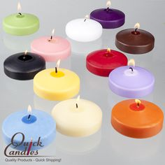 """3"""" Floating candles are a perfect addition to holders in your home, centerpieces, pools, or  ponds.  With 8-10 hour burn time, this candle is a great product at a great price!  And made in the USA to boot!"""
