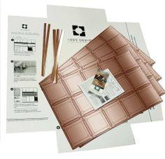 copper finish art nouvea kitchen backsplash kit