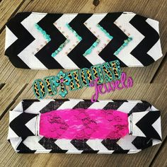 Chevron headband with turquoise and crystals www.outhousejewels.com/Headbands