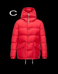 Moncler Montclar Men Ultralight cotton fabric Fixed Hood jacket Red 2014 Outlet Sale