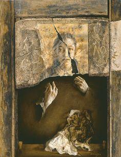 Eduardo Naranjo - CONTEMPLACIÓN. 1975. Óleo sobre lienzo. 85 x 68 cm. Principado de Asturias / colección Pedro Masaveu