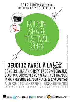 Rockin Share Festival. Le jeudi 10 avril 2014 à bordeaux.