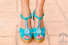 DIY Embellished Wedges