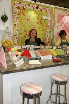 Fabric is like IceCream!! Loved this booth at #QuiltMarket SLC