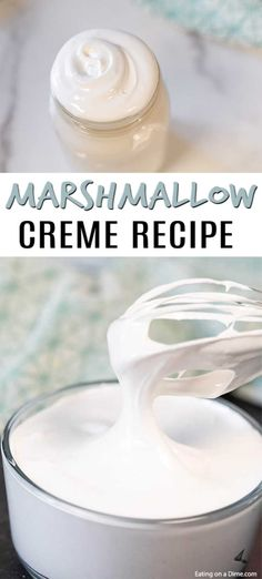 Marshmallow Creme Recipe - How to Make Marshmallow Cream how to make marshmallow creme - don't spend your money on the store bought when you can makemarshmallow creme at home! Marshmallow Brownies, Marshmallow Popcorn, Marshmallow Frosting, Toasted Marshmallow, Cake Frosting Recipe, Homemade Frosting, Frosting Tips, Frosting Recipes, Dinner Party Desserts