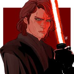Anakin Skywalker by Anakin Skywalker, Anakin Vader, Anakin And Padme, Darth Vader, Han And Leia, Star Wars Images, Star Wars Fan Art, Star War 3, Fantasy Illustration