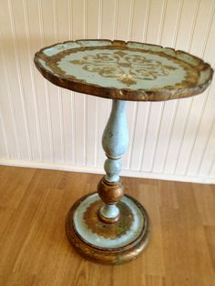 Vintage Florentine Italian Table Round Gold Gilt by agelessalchemy