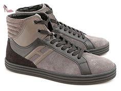 Baskets montantes Hogan homme en cuir retournée - Code modèle: HXM1410F4201ZB9999 - Taille: 40.5 EU / 6.5 UK - Chaussures hogan (*Partner-Link)