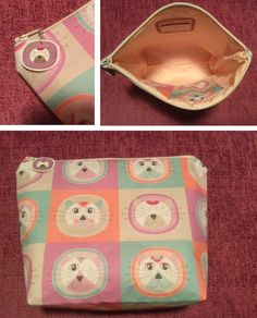 This cute cosmetic bag was made by Sally Garner using our cotton sateen