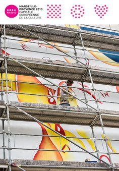 Bottazzi - Permanent site specific art work for Marseille Provence 2013, in process