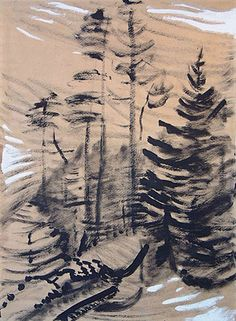Tree Form, 1940. Emily Carr. Audain Emily Carr, Canadian Painters, Canadian Artists, Vancouver Art Gallery, Tom Thomson, Group Of Seven, Witch Art, Watercolor Trees, Impressionist Paintings
