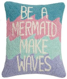 Be A Mermaid Wool Hook Pillow