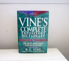 Vine's complete expository dictionary by W.E. Vine reference book study guide bible study religioius studies college gift graduation by 6thandDurianVintage
