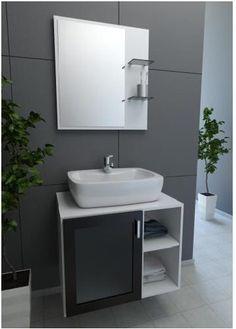 20140918 gabinete para banheiro cinza 07 Modelos de Gabinete para Banheiro